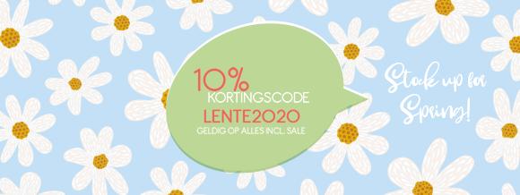 10% korting met code LENTE2020