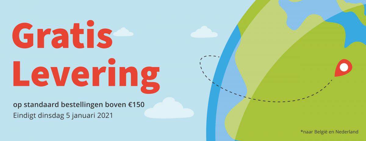 Gratis levering boven 150 €